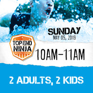 Sunday 5th: 10am-11am (2 ADULTS, 2 KIDS)