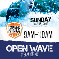 Sunday 5th: 9am-10am (OPEN WAVE)