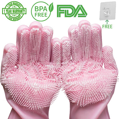 Magic Silicone Dish-washing Scrubber Gloves