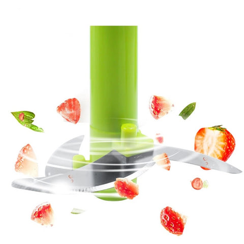 Image of Slicejet QuickPull Food Chopper: Large 4-Cup Powerful Manual Hand Held Chopper/Mincer/Mixer/Blender