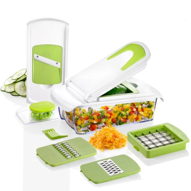Slicejet NO MORE TEARS Heavier Duty  5 in 1 Multi-function Easy Food Chopper Slicer Dicer