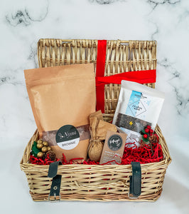 Christmas Hamper With Chocolate Brownie Baking Mix