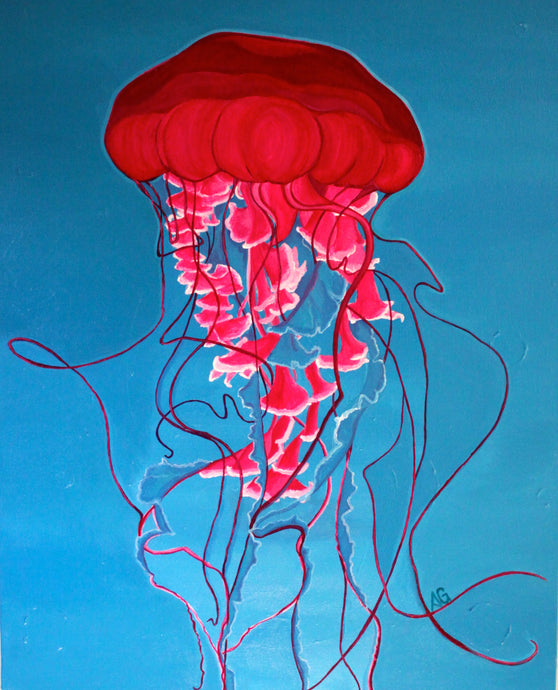 Magical Jelly Blue Metal Print