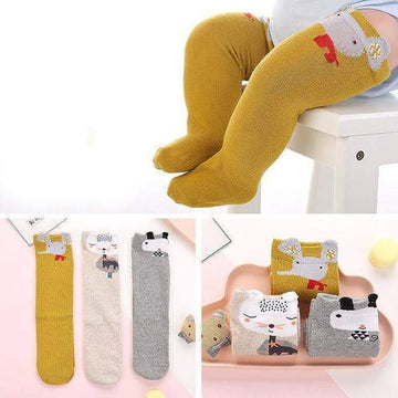 [leggycozy] (3Pairs/lot) Cute Christmas Animal Over Knee Cotton Warm Baby Socks