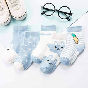 Open image in slideshow, [leggycozy] (5pairs/set) Baby Cotton Toddler Socks for 0-3y