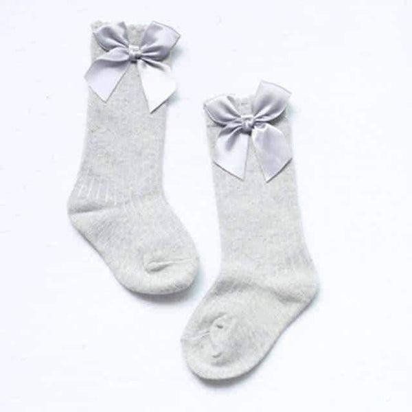 leggycozy Baby Socks [leggycozy] Baby Princess Knee High Socks with Bows