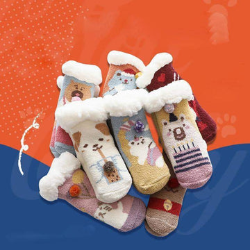 [leggycozy] Children's Non-slip Thickening Warm Floor Socks