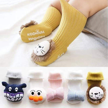 [leggycozy] Cute Cartoon Anti-Skid Floor Socks for Newborn Babies