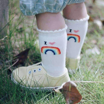 [leggycozy] High Quality Toddler Tiny Cottons Rainbow Socks