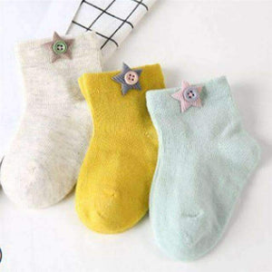 Open image in slideshow, leggycozy Baby Socks [leggycozy] Lovely Unisex Kid Baby Breathable Cotton Socks By Random for 0-3Years
