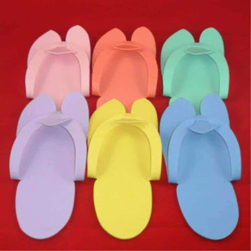 [leggycozy] (12&36 Pairs/Set) Anti-Skidding Disposable Flip Flop EVA Foam Slippers for Pedicure/Spa/Hotel