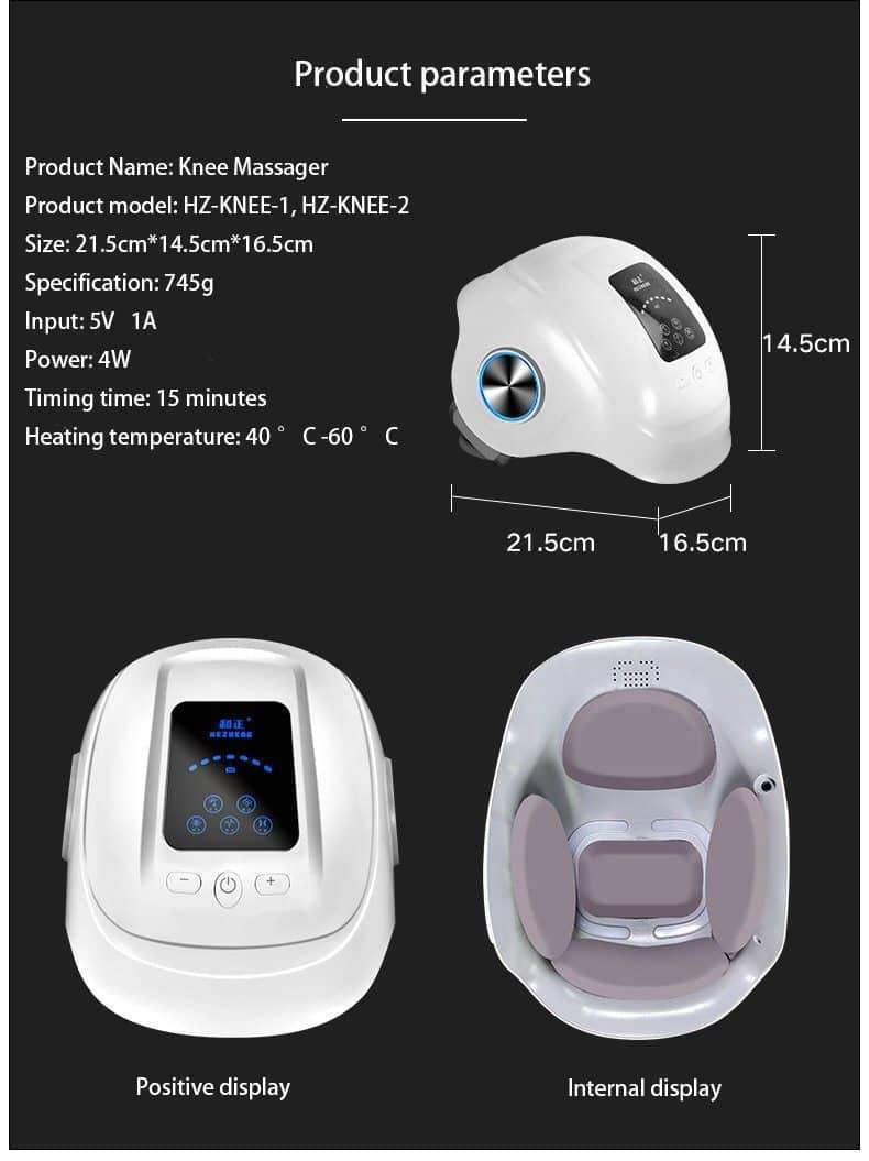 [leggycozy] Laser Heating Pain Relief Knee Air Massage Machine for Rheumatoid Arthritis Physiotherapy