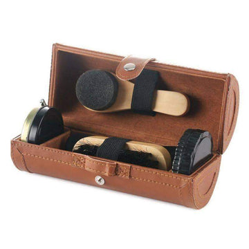 [leggycozy] Leather Shoes Care Set -shoehorn, shoe polish, shoe brush, cleaning cloth, sponge brush, sponge wipe