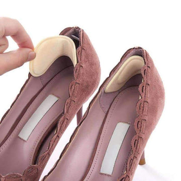 [leggycozy] Silicone Shoes Gel Insoles Heel Pads For Protecting Back Heel