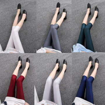[leggycozy] Casual Neon Solid Color Slim Elasticity Capri Leggings