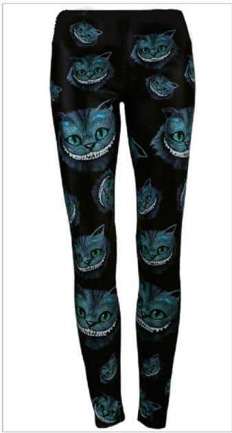 [leggycozy] European and American Style Smile Cat Pattern Slim Outdoor Leggings
