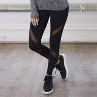 leggycozy Leggings [leggycozy] Mesh Push Up Black Skinny Exercise Leggings