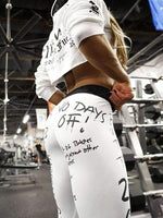 "leggycozy Leggings [leggycozy] Slim Fitness High Waist ""No Days Off"" Letter Print Leggings"