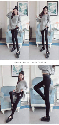 leggycozy Leggings [leggycozy] Thick Velvet Warm Solid High Elasticity Skinny Leggings -Plus Size 5XL