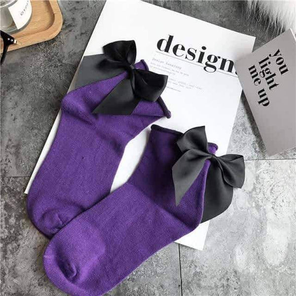 leggycozy [leggycozy] 21 Colors Chic Lovely Candy Color Bow Socks