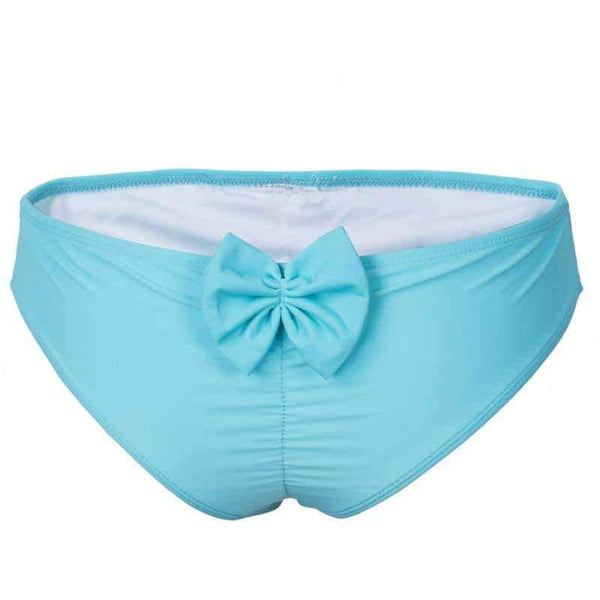 leggycozy [leggycozy] Brazilian Cheeky Bow T-Back Cut Out Bikini Bottom