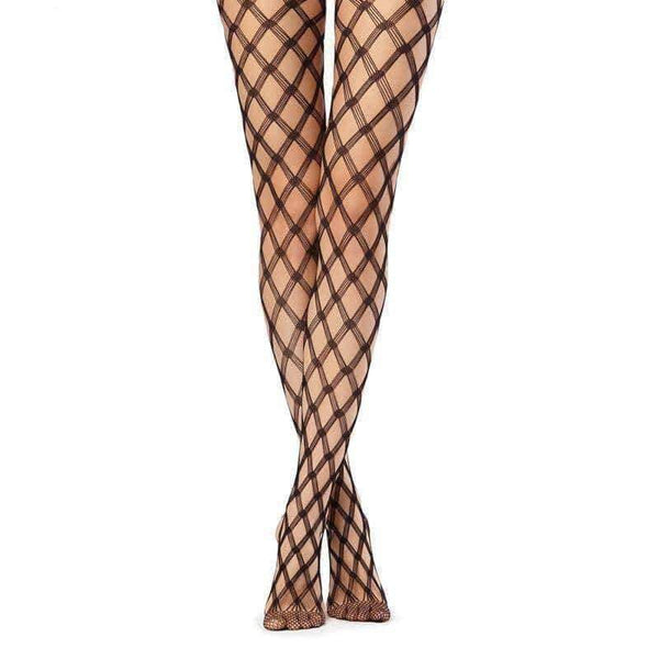 leggycozy [leggycozy] Cross Lattice Fishnet Pantyhose Stockings