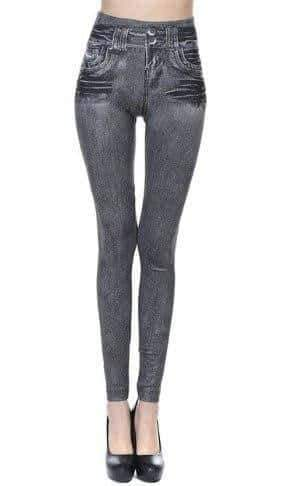 leggycozy [leggycozy] Fleece Lined Wite Jean Leggings