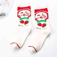 leggycozy [leggycozy] Japanese Novelty Ice Cream Logo Socks