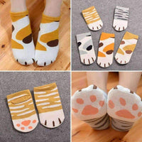 leggycozy [leggycozy] Kawaii Cute Cartoon Cat Paw Socks