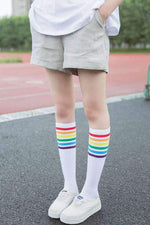 leggycozy [leggycozy] Rainbow Striped Pattern Socks