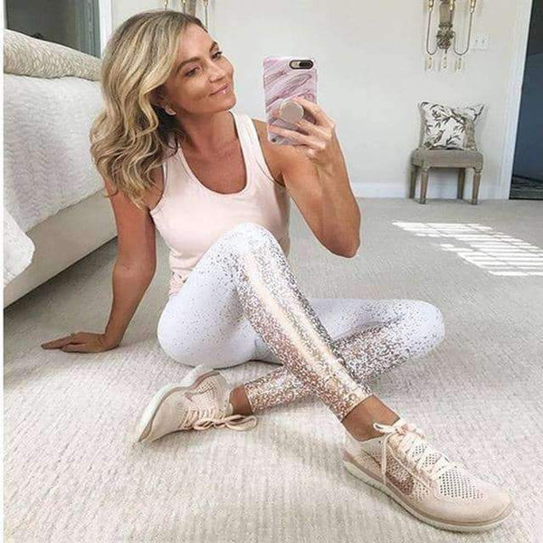 leggycozy [leggycozy] Rose Gold Pink High Waist Leggings