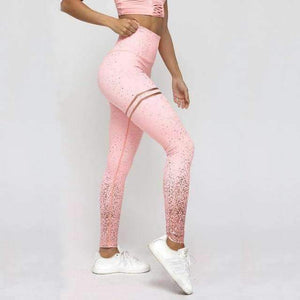 Open image in slideshow, [leggycozy] Rose Gold Pink High Waist Leggings