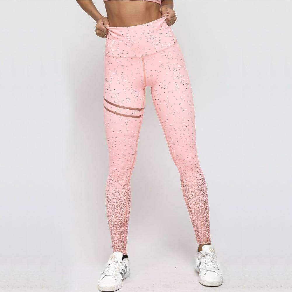 [leggycozy] Rose Gold Pink High Waist Leggings