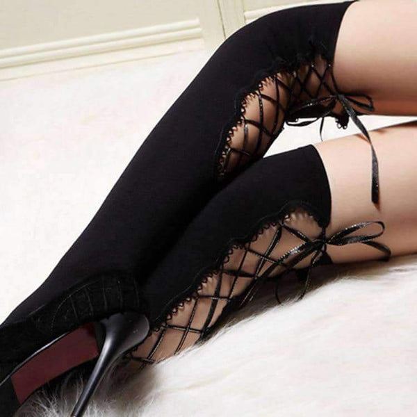 leggycozy [leggycozy] Thigh High Sheer Lace Top Sexy Stockings