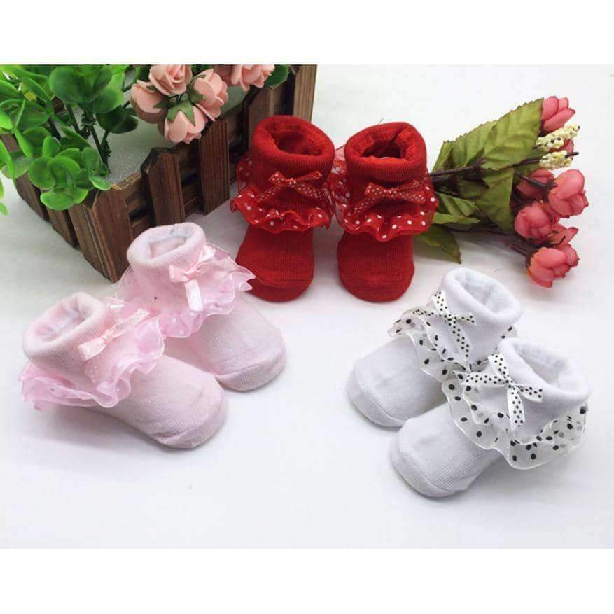 [leggycozy] Toddlers Combed Cotton Ankle Floor Socks For Princess
