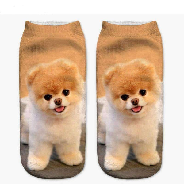 [leggycozy] Unisex Cute Animal Printed  Cute Low Cut Ankle Socks