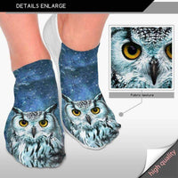 leggycozy [leggycozy] Unisex Cute Animal Printed  Cute Low Cut Ankle Socks