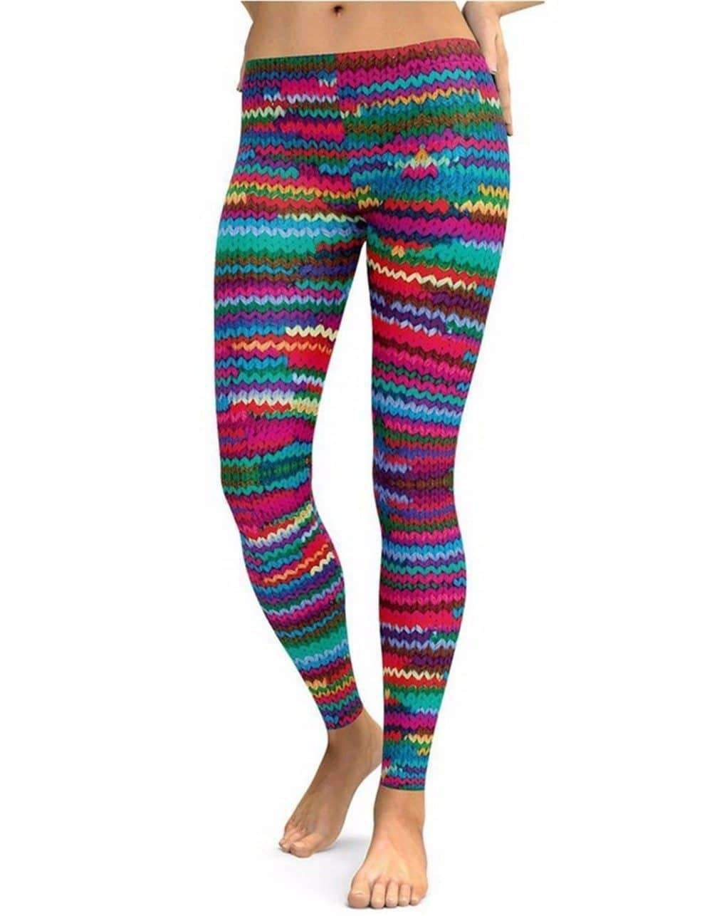 [leggycozy] Woolen Print High Waist Leggings