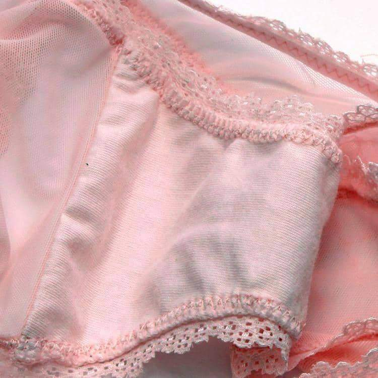 [leggycozy] (3pcs/lot) Elegant Lace Bow Knot Sheer Panties