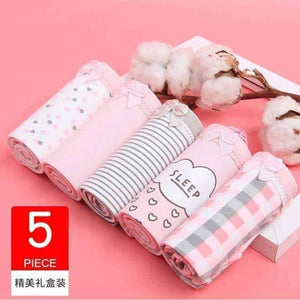 Open image in slideshow, [leggycozy] (5 Pcs/Set) Cute Comfortable Cotton Bow-Knot Panties