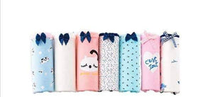 Open image in slideshow, [leggycozy] (7 Pcs/Set) Cute Cartoon Printed Cotton Panties