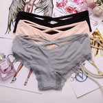 leggycozy Panties [leggycozy] Bandage Design Soft Silk Seamless Panties