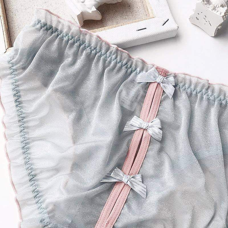 leggycozy Panties [leggycozy] Bright Sexy Comfortable Butterfly Knot Low Waist Triangle Panties
