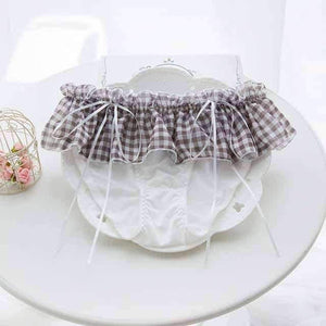 Open image in slideshow, [leggycozy] Cute Bow String Comfortable Milk Silk Panties