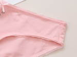 leggycozy Panties [leggycozy] Cute Cartoon Print Mid Waist Cotton Panties with Bow Knot