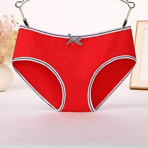 Open image in slideshow, [leggycozy] Cute Neon Color Comfortable Seamless Cotton Panties with Bow-Knot