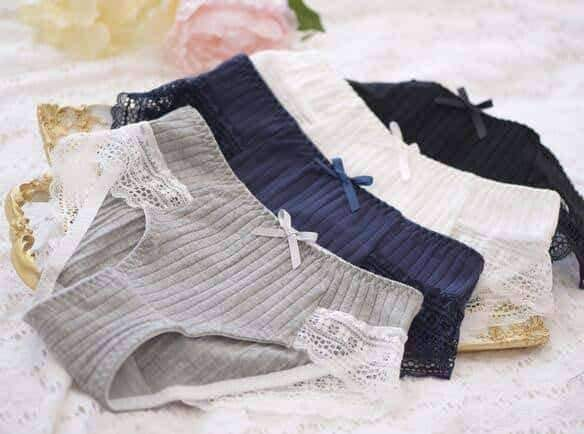 leggycozy Panties [leggycozy] Kawaii Comfortable Ribbon Cotton Lace Panties