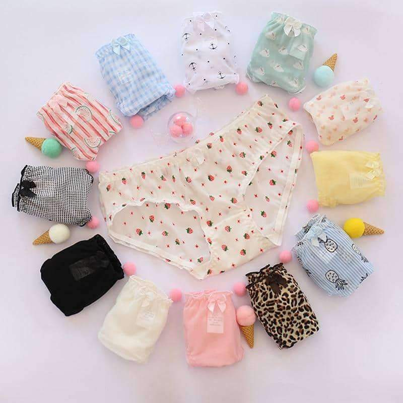 leggycozy Panties [leggycozy] Kawaii Cute Pattern Bow Knot Panties