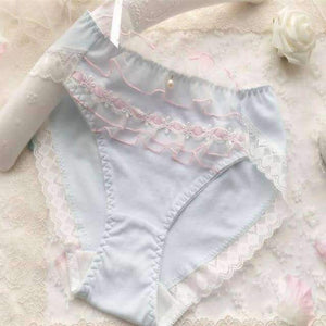 Open image in slideshow, [leggycozy] Lovely & Cute Kawaii Fancy Ruffle Cotton Princess Panties