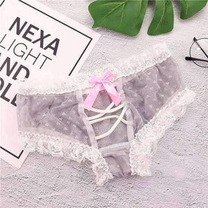 Open image in slideshow, [leggycozy] Lovely & Sexy Lace & Mesh Princess Panties